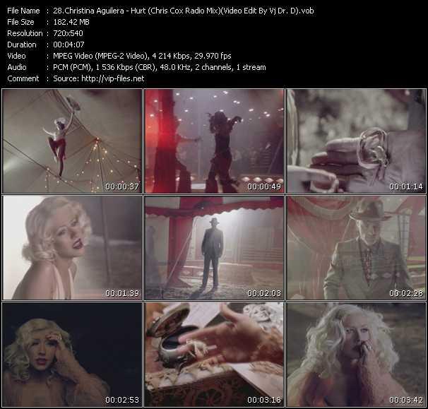video Hurt (Chris Cox Radio Mix) (Video Edit By Vj Dr. D) screen