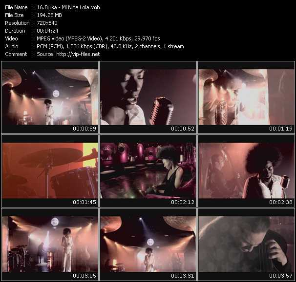 download Buika « Mi Nina Lola » video vob