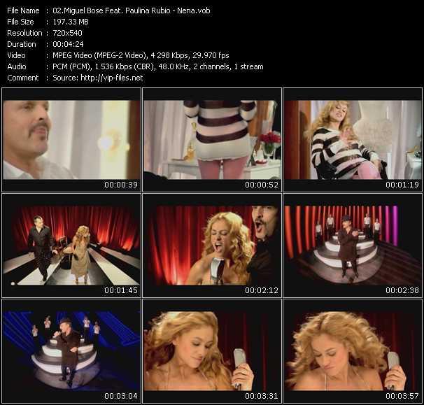 download Miguel Bose Feat. Paulina Rubio « Nena » video vob