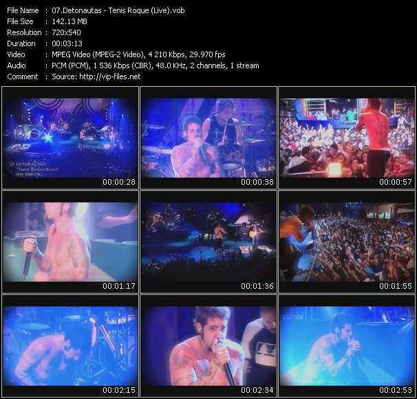 download Detonautas « Tenis Roque (Live) » video vob