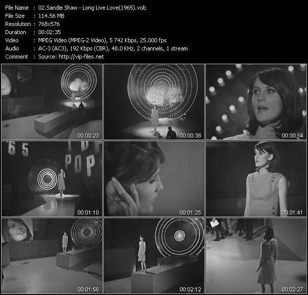 video Long Live Love (From Top Of The Pops 1965) screen