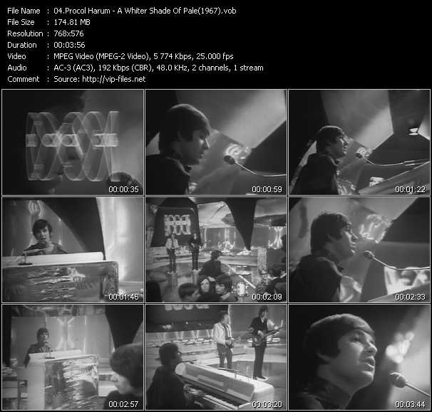 video A Whiter Shade Of Pale (From Top Of The Pops 1967) screen