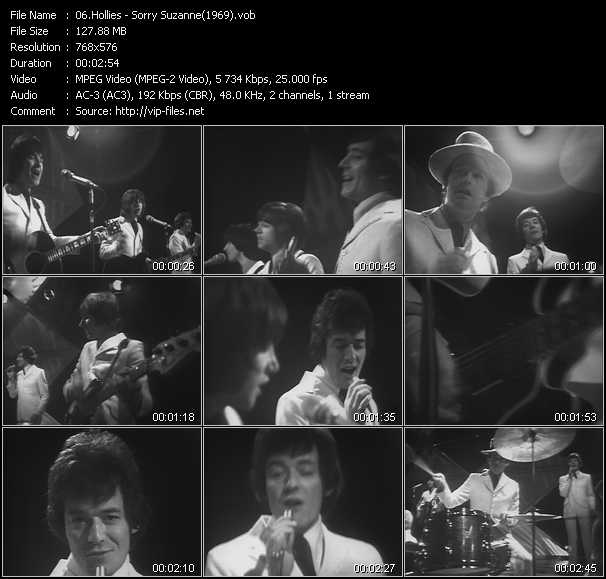 video Sorry Suzanne (From Top Of The Pops 1969) screen