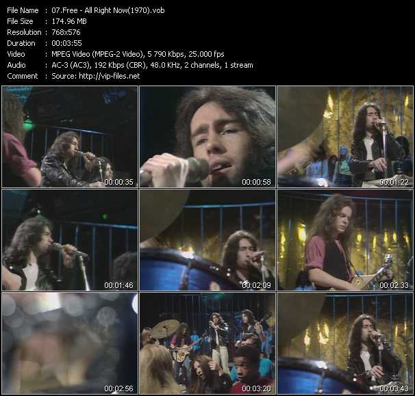 video All Right Now (From Top Of The Pops 1970) screen