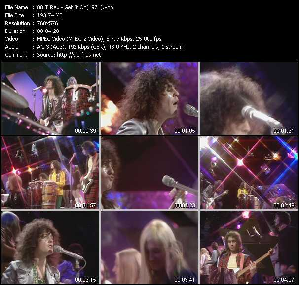 video Get It On (From Top Of The Pops 1971) screen