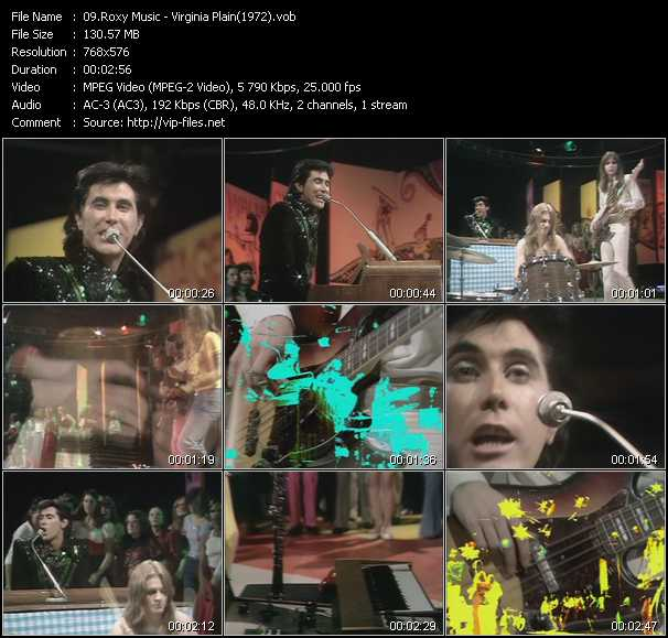 video Virginia Plain (From Top Of The Pops 1972) screen