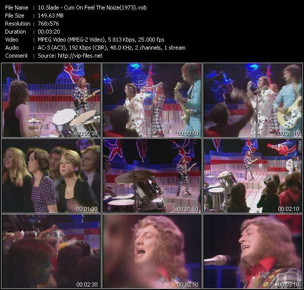 download Slade « Cum On Feel The Noize (From Top Of The Pops 1973) » video vob