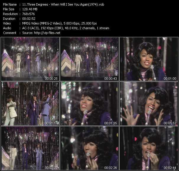 video When Will I See You Again (From Top Of The Pops 1974) screen