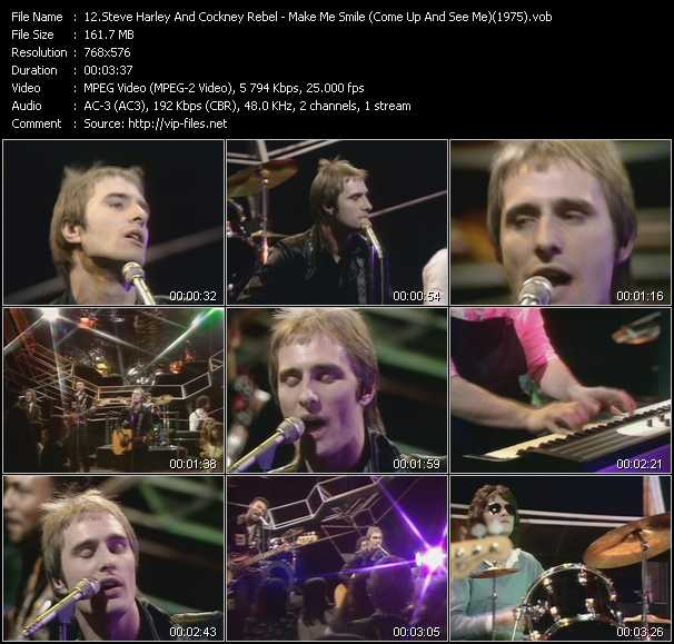 video Make Me Smile (Come Up And See Me) (From Top Of The Pops 1975) screen