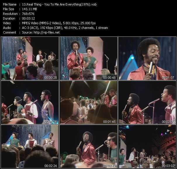 video You To Me Are Everything (From Top Of The Pops 1976) screen
