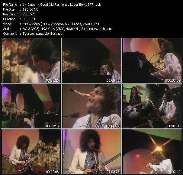 video Good Old Fashioned Lover Boy (From Top Of The Pops 1977) screen