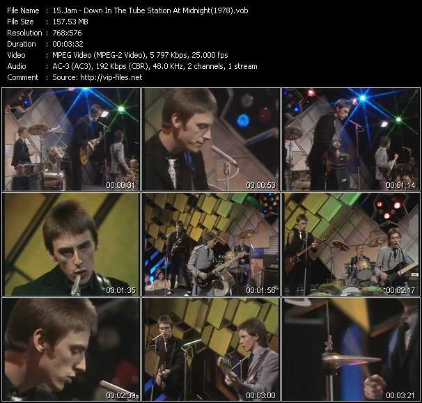 video Down In The Tube Station At Midnight (From Top Of The Pops 1978) screen