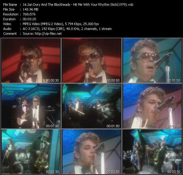 video Hit Me With Your Rhythm Stick (From Top Of The Pops 1979) screen