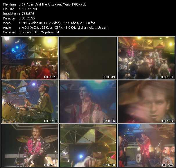 video Ant Music (From Top Of The Pops 1980) screen