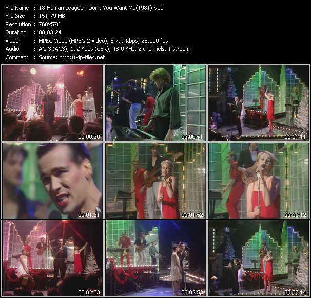 video Don't You Want Me (From Top Of The Pops 1981) screen