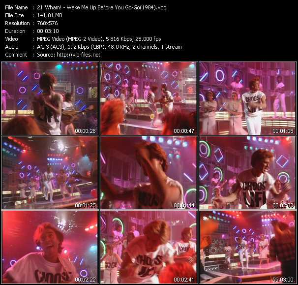 video Wake Me Up Before You Go-Go (From Top Of The Pops 1984) screen