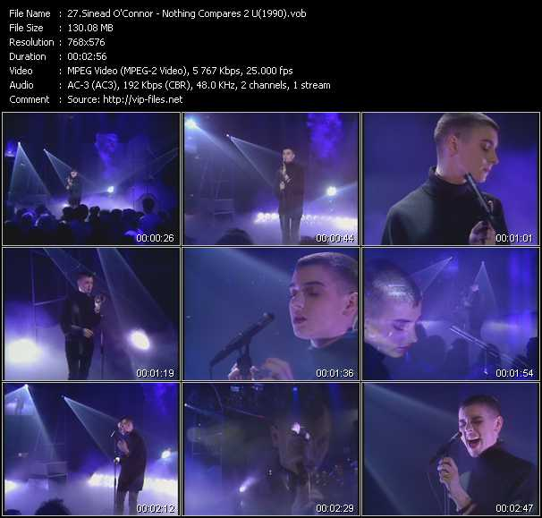 video Nothing Compares 2 U (From Top Of The Pops 1990) screen