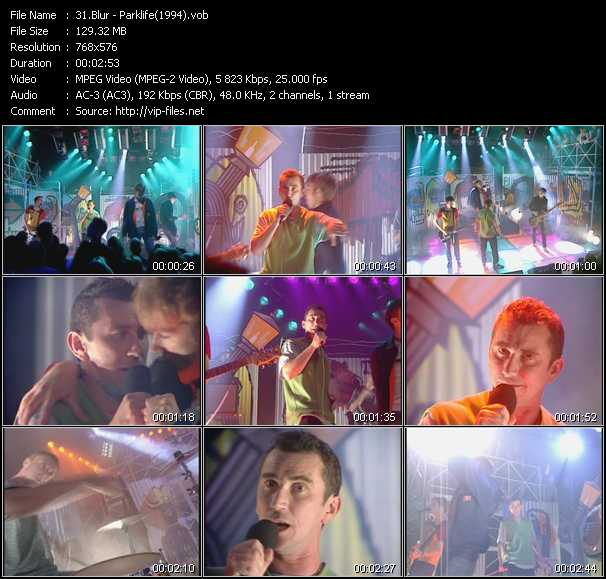 video Parklife (From Top Of The Pops 1994) screen