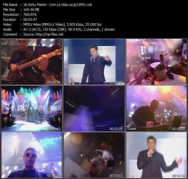 video Livin' La Vida Loca (From Top Of The Pops 1999) screen