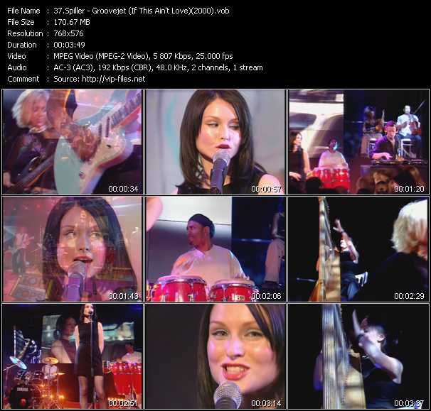 video Groovejet (If This Ain't Love) (From Top Of The Pops 2000) screen