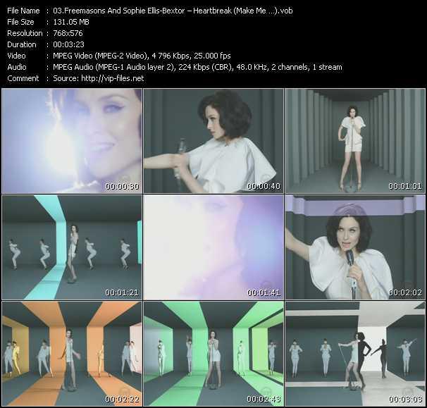 download Freemasons Feat. Sophie Ellis-Bextor « Heartbreak (Make Me ?) » video vob