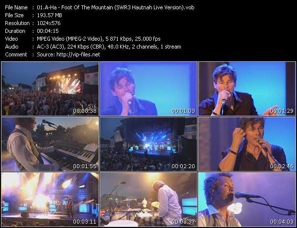 video Foot Of The Mountain (SWR3 Hautnah Live Version) screen