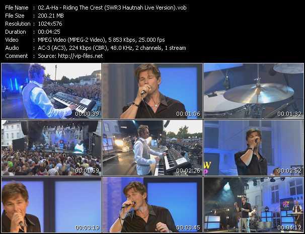 download A-Ha « Riding The Crest (SWR3 Hautnah Live Version) » video vob