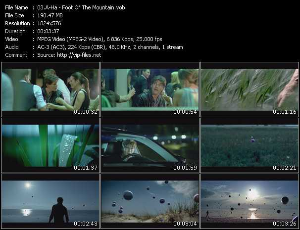 download A-Ha « Foot Of The Mountain » video vob