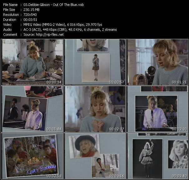 download Debbie Gibson « Out Of The Blue » video vob