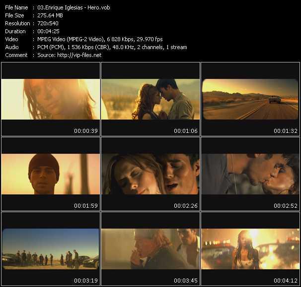 download Enrique Iglesias « Hero » video vob