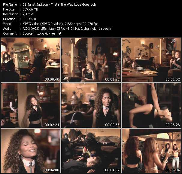 download Janet Jackson « That's The Way Love Goes » video vob