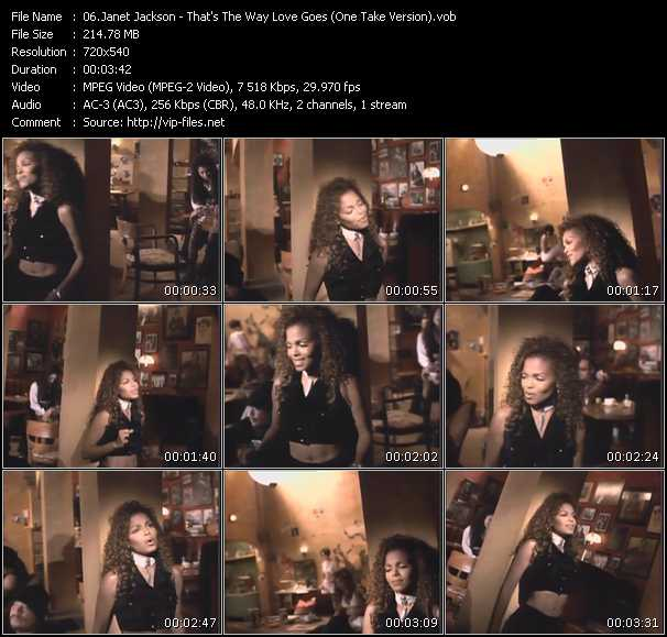 download Janet Jackson « That's The Way Love Goes (One Take Version) » video vob