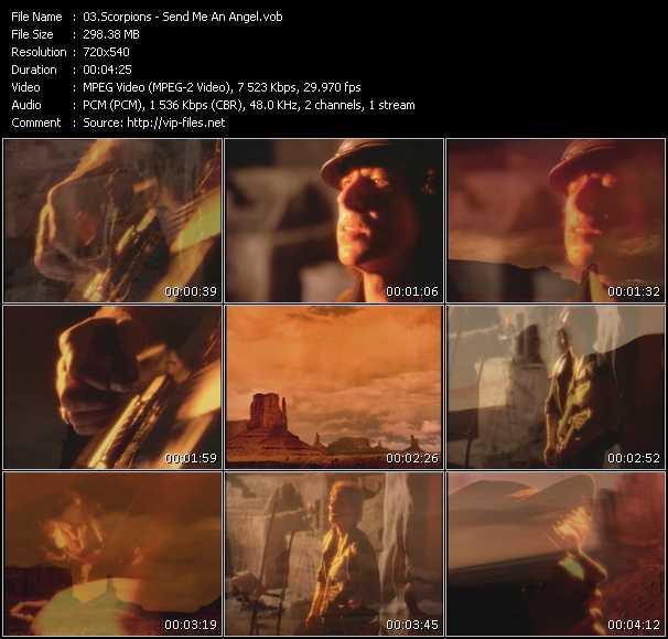 download Scorpions « Send Me An Angel » video vob