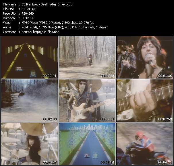 download Rainbow « Death Alley Driver » video vob