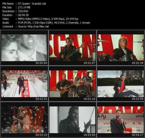 download Queen « Scandal » video vob