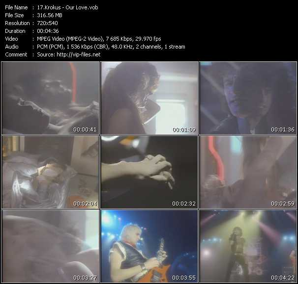 download Krokus « Our Love » video vob
