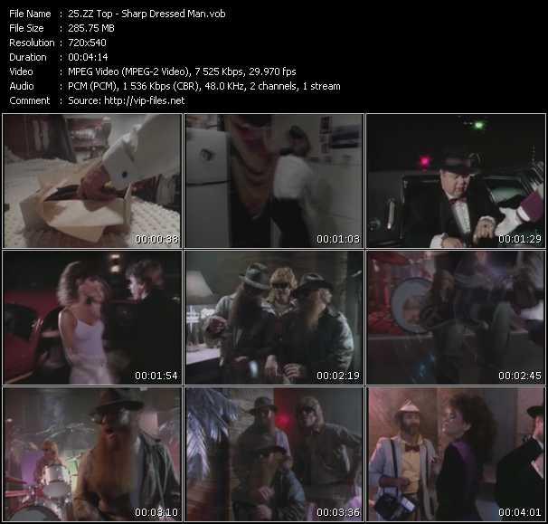 download ZZ Top « Sharp Dressed Man » video vob