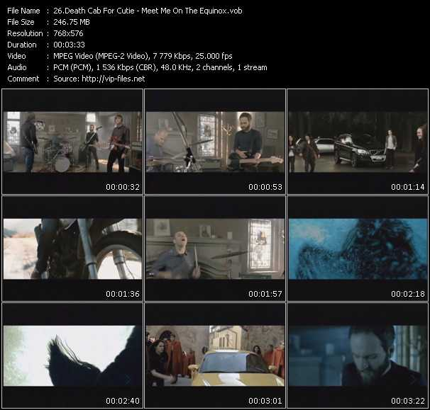 download Death Cab For Cutie « Meet Me On The Equinox » video vob
