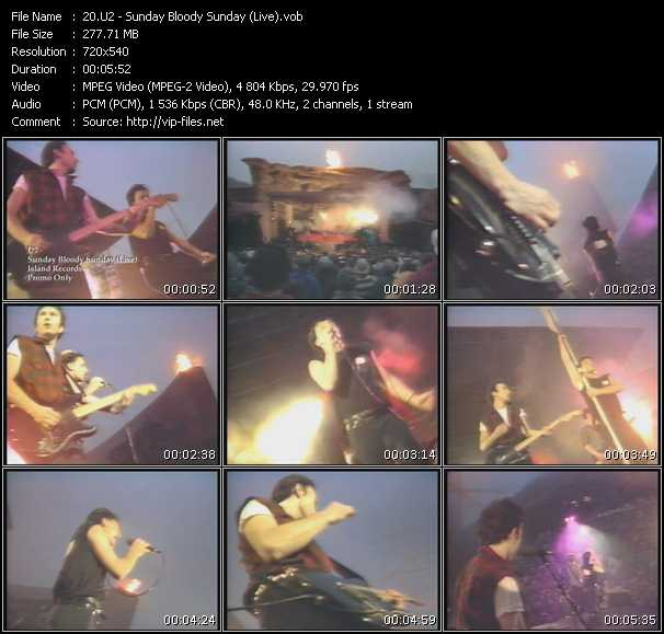 video Sunday Bloody Sunday (Live) screen