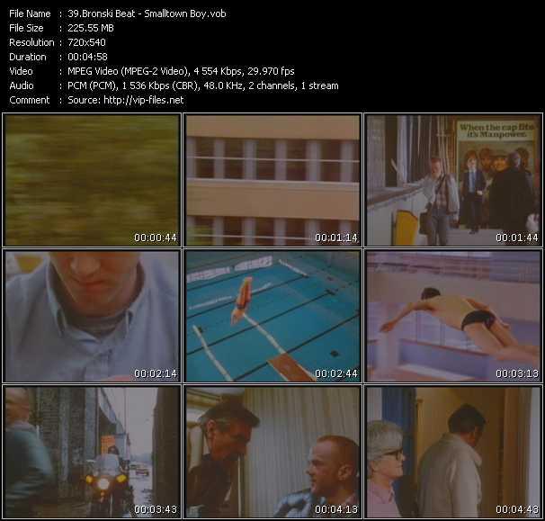 video Smalltown Boy screen