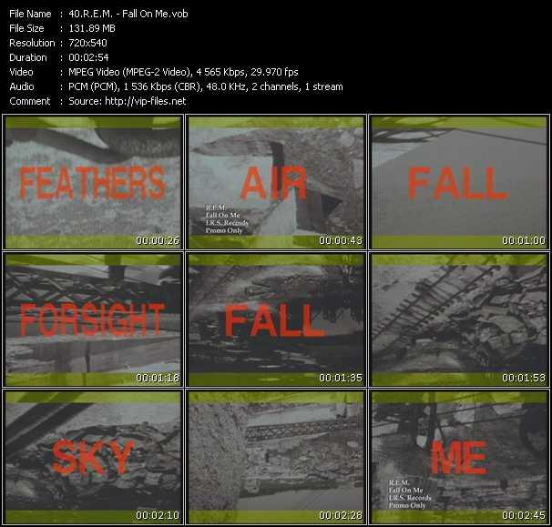 video Fall On Me screen