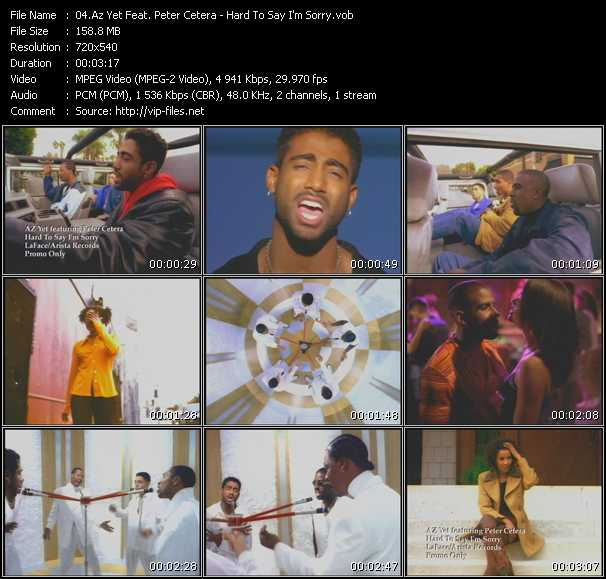download Az Yet Feat. Peter Cetera « Hard To Say I'm Sorry » video vob