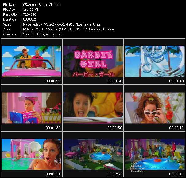 download Aqua « Barbie Girl » video vob