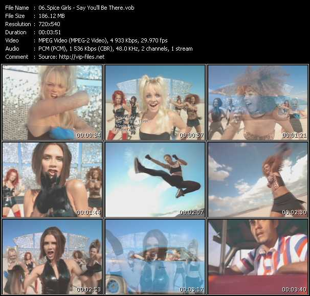 download Spice Girls « Say You'll Be There » video vob