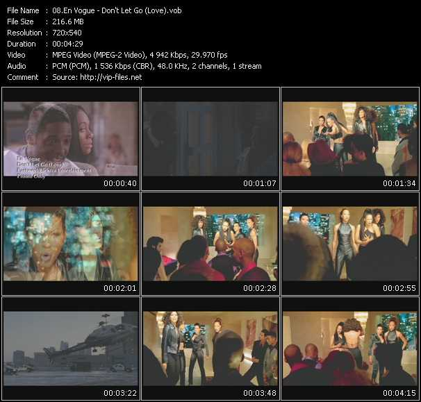download En Vogue « Don't Let Go (Love) » video vob