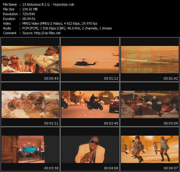 download Notorious B.I.G. « Hypnotize » video vob