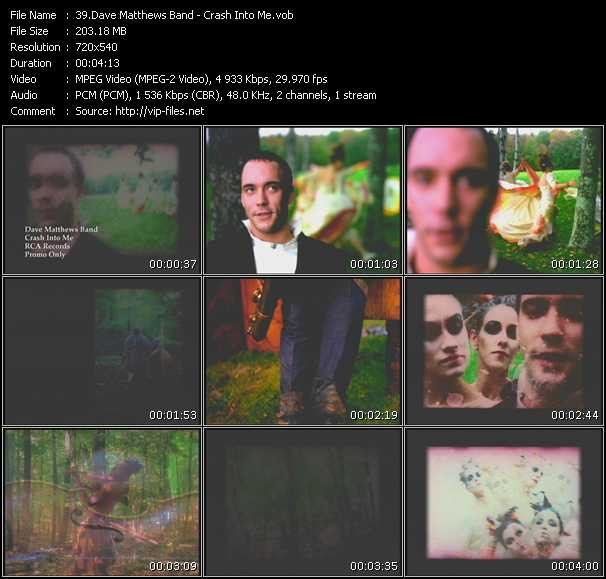 download Dave Matthews Band « Crash Into Me » video vob