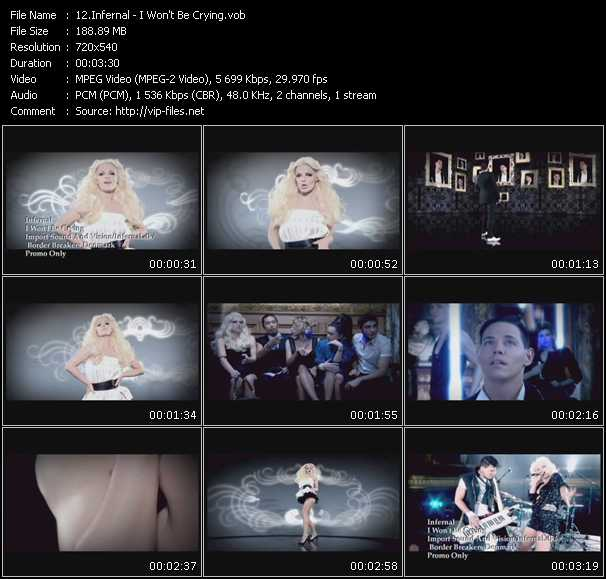 download Infernal « I Won't Be Crying » video vob