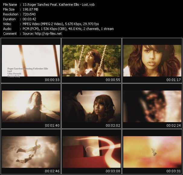 download Roger Sanchez Feat. Katherine Ellis « Lost » video vob