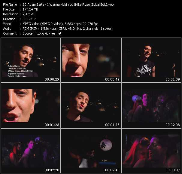 download Adam Barta « I Wanna Hold You (Mike Rizzo Global Edit) » video vob